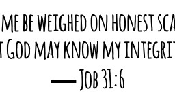 Honesty and Trust…