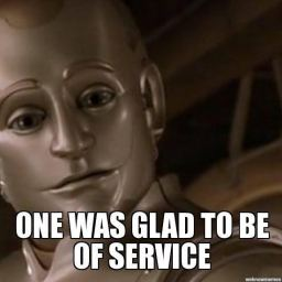 Glad to be of service…